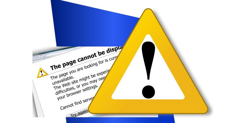 the sort of warning sign you don't want to see when you go to your website